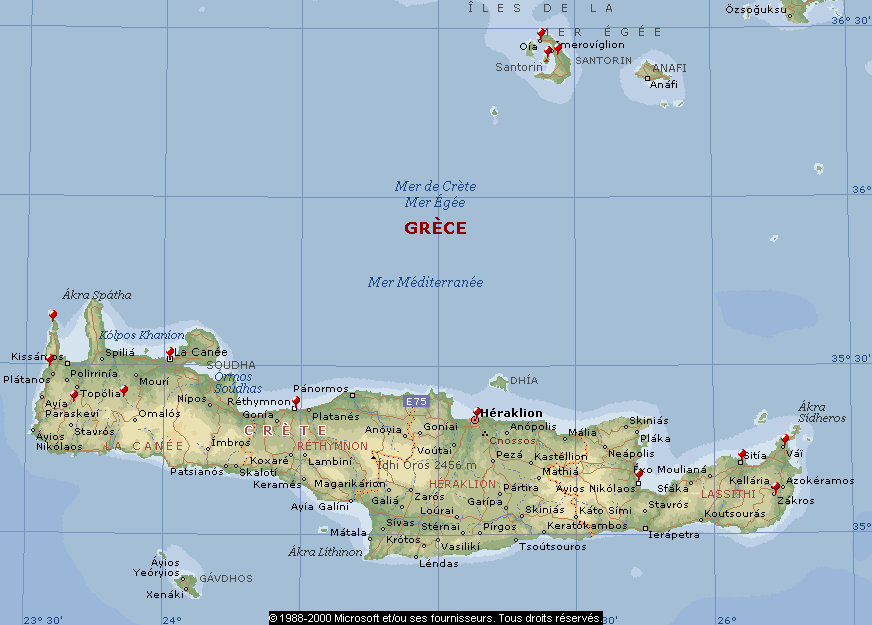 Grèce : Crète et Santorin